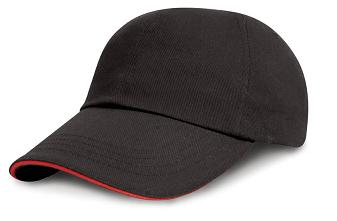 Junior Low Profile Heawy Brushed Cotton Cap(with sandwith peak)